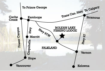 Bolean Lake Lodge Map & Directions